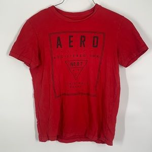 Aeropostale red men's cotton graphic t shirt small